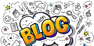 cartoon drawing of the word blog