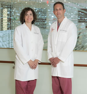 portrait of doctors Tamatha Fenster and Mark Schiffman