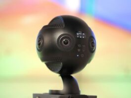 black, new spherical robotic camera