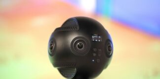 black, new spherical robotic camera