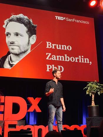 Bruno Zamborlin speaking at TedX