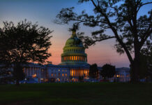 House of Congress lit up at dusk