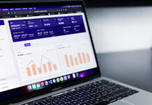 laptop displaying unbiased information or analytics for businesses