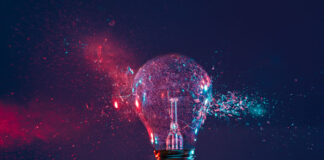 light bulb exploding with stone soup innovation