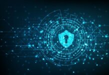 virtual security symbol of protecting IoT devices