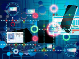 SEO Technology displayed in colorful symbols and drawings