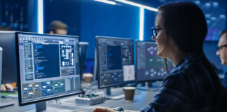 CCE is used as girl is monitoring cyber security