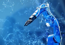 robotic arm used with AI in manufacturing