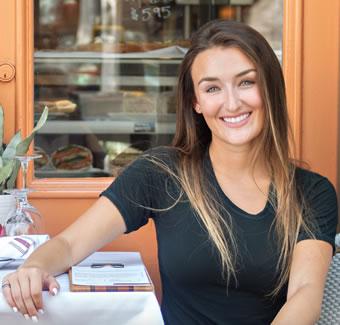 haley pavone restaurant smiling headshot